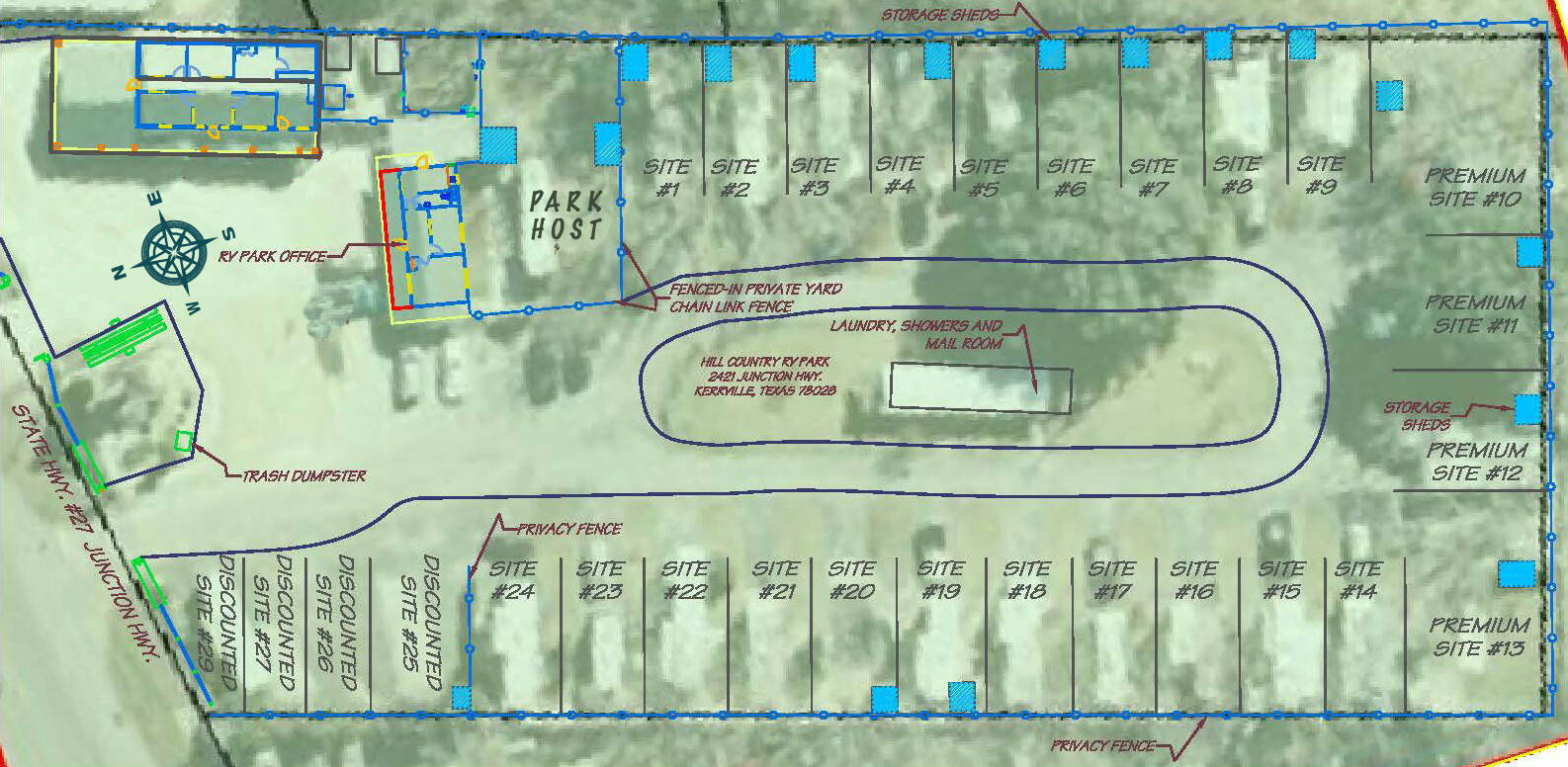 Site Map Layout Of The RV Park